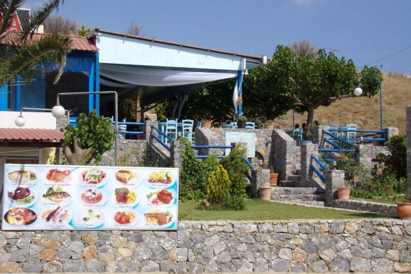entrance-of-andreas-tavern-homemade-food-local-products-cretan-cousin-diet-fresh-fish-tavern-mythos-damnoni-plakias-south-rethymno-crete