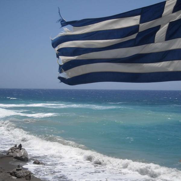 greek-flag-beach-agios-georgios-agia-galini-south-rethymno-crete